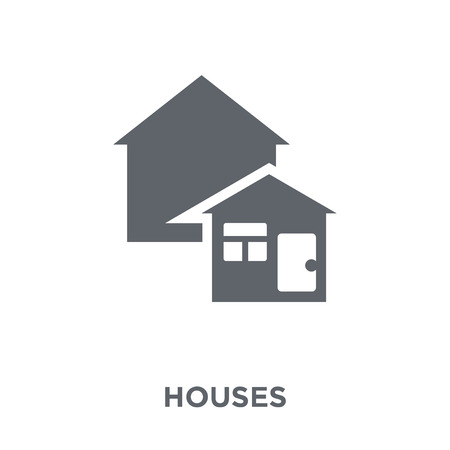 Houses icon. Houses design concept from Real estate collection. Simple element vector illustration on white background.