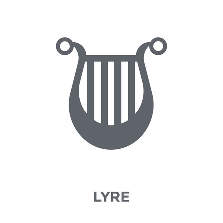 Lyre icon. Lyre design concept from  collection. Simple element vector illustration on white background.