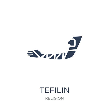 Tefilin icon. Trendy flat vector Tefilin icon on white background from Religion collection, vector illustration can be use for web and mobile, eps10 Illustration