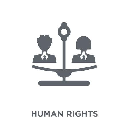 Icono de derechos humanos. Concepto de diseño de derechos humanos de colección política. Ilustración de vector de elemento simple sobre fondo blanco.
