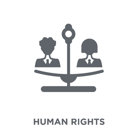 Human rights icon. Human rights design concept from Political collection. Simple element vector illustration on white background. Illustration