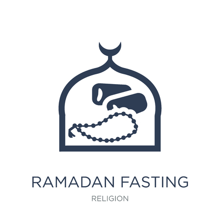 Ramadan Fasting icon. Trendy flat vector Ramadan Fasting icon on white background from Religion collection, vector illustration can be use for web and mobile