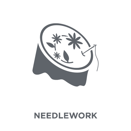 Needlework icon. Needlework design concept from Sew collection. Simple element vector illustration on white background.