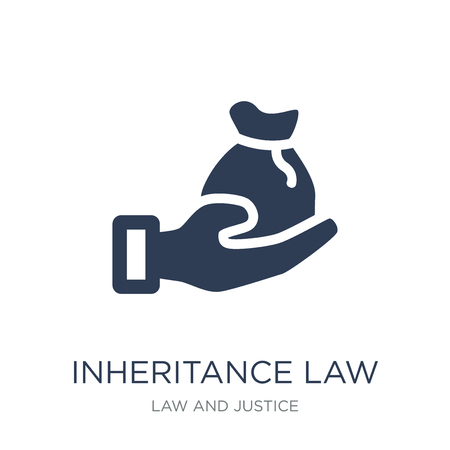 inheritance law icon. Trendy flat vector inheritance law icon on white background from law and justice collection, vector illustration can be use for web and mobile