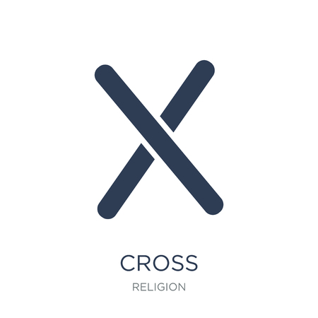 Cross icon. Trendy flat vector Cross icon on white background from Religion collection, vector illustration can be use for web and mobile Illustration