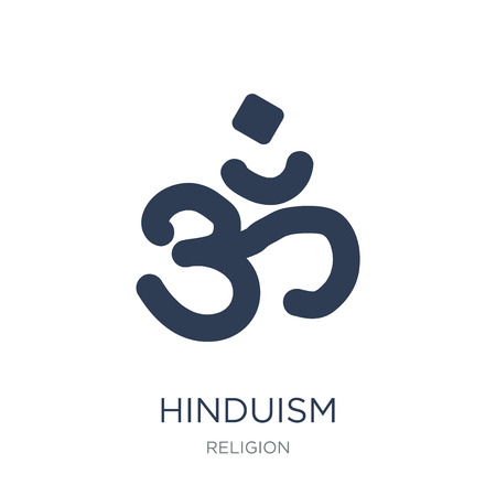 Hinduism icon. Trendy flat vector Hinduism icon on white background from Religion collection, vector illustration can be use for web and mobile