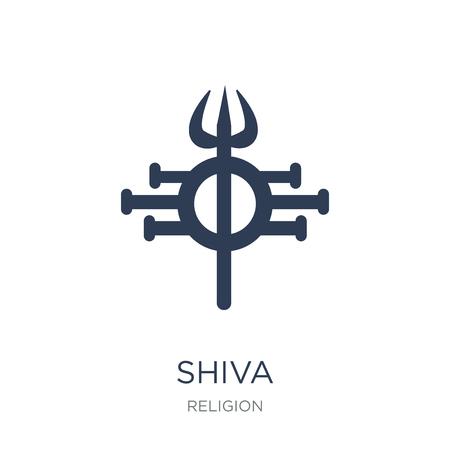Icono de Shiva. Icono de Shiva de moda vector plano sobre fondo blanco de la colección Religión, Ilustración de vectores se puede utilizar para web y móvil