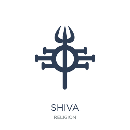 Shiva icon. Trendy flat vector Shiva icon on white background from Religion collection, vector illustration can be use for web and mobile Stok Fotoğraf - 111839081