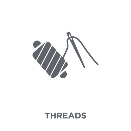 Threads icon. Threads design concept from Sew collection. Simple element vector illustration on white background.