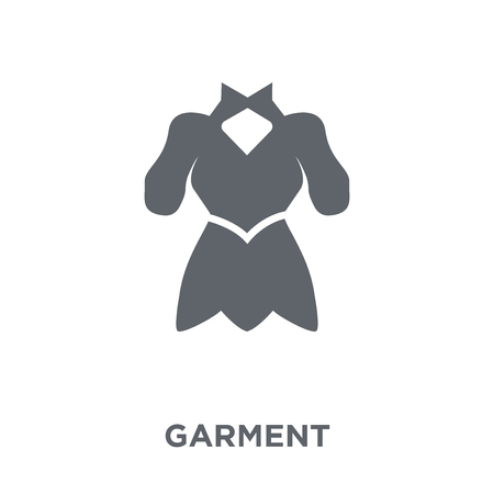 garment icon. garment design concept from Sew collection. Simple element vector illustration on white background. Illustration