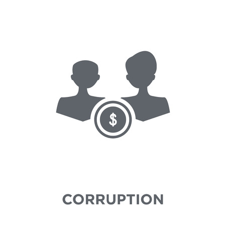 Corruption icon. Corruption design concept from  collection. Simple element vector illustration on white background. 向量圖像