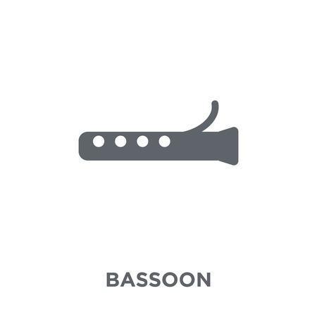 Bassoon icon. Bassoon design concept from Music collection. Simple element vector illustration on white background.