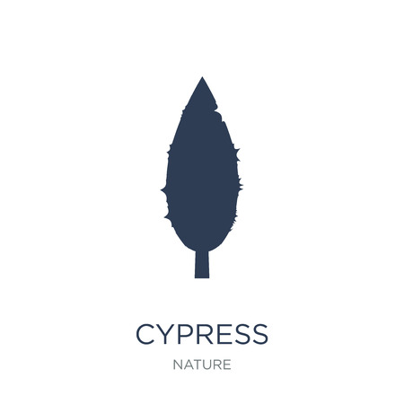 Cypress icon. Trendy flat vector Cypress icon on white background from nature collection, vector illustration can be use for web and mobile