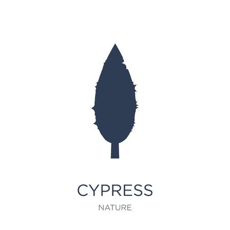 Zypresse-Symbol. Trendiges flaches Vektor-Zypressensymbol auf weißem Hintergrund aus der Natursammlung, Vektorillustration kann für Web und Mobile verwendet werden