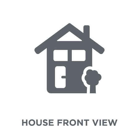 House front view icon. House front view design concept from Real estate collection. Simple element vector illustration on white background. 向量圖像