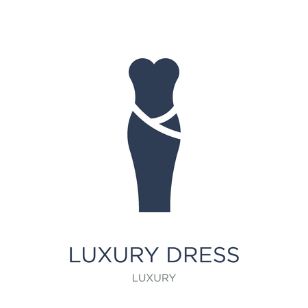 luxury Dress icon. Trendy flat vector luxury Dress icon on white background from Luxury collection, vector illustration can be use for web and mobile