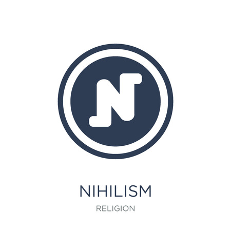 nihilism icon. Trendy flat vector nihilism icon on white background from Religion collection, vector illustration can be use for web and mobile, eps10 Stock Vector - 111309372