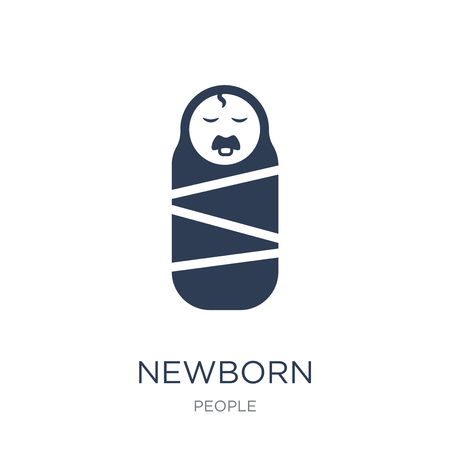 Newborn icon. Trendy flat vector Newborn icon on white background from People collection, vector illustration can be use for web and mobile, eps10 Illustration