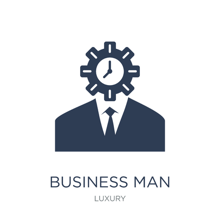 Business man icon. Trendy flat vector Business man icon on white background from Luxury collection, vector illustration can be use for web and mobile, eps10