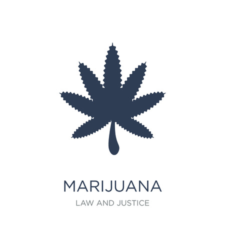 Marijuana icon. Trendy flat vector Marijuana icon on white background from law and justice collection, vector illustration can be use for web and mobile, eps10