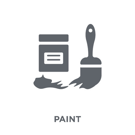Paint icon. Paint design concept from  collection. Simple element vector illustration on white background.