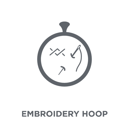 Embroidery hoop icon. Embroidery hoop design concept from Sew collection. Simple element vector illustration on white background.