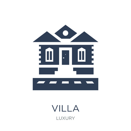 Villa icon. Trendy flat vector Villa icon on white background from Luxury collection, vector illustration can be use for web and mobile, eps10