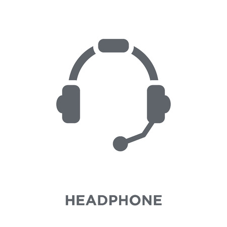 Headphone icon. Headphone design concept from  collection. Simple element vector illustration on white background. Foto de archivo - 112236137