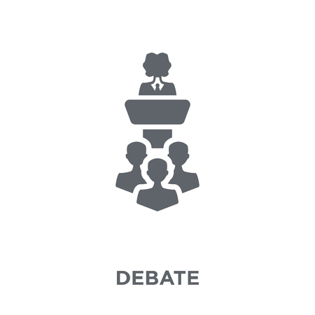 Debate icon. Debate design concept from  collection. Simple element vector illustration on white background. 向量圖像