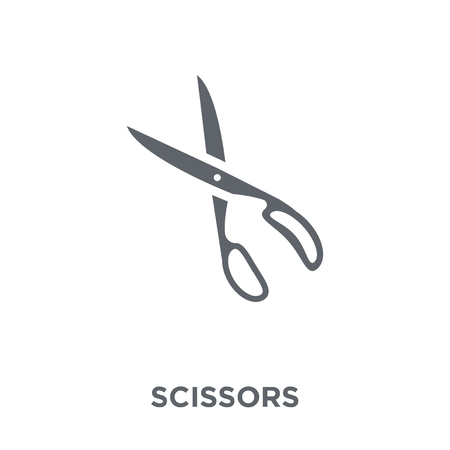 Scissors icon. Scissors design concept from  collection. Simple element vector illustration on white background.