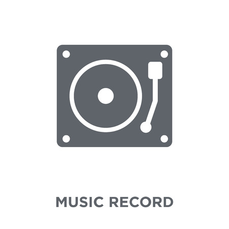 Music Record icon. Music Record design concept from Music collection. Simple element vector illustration on white background. Stock Illustratie