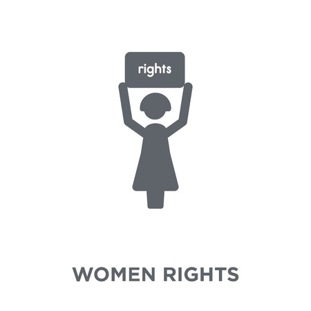 Women rights icon. Women rights design concept from Political collection. Simple element vector illustration on white background. Illustration