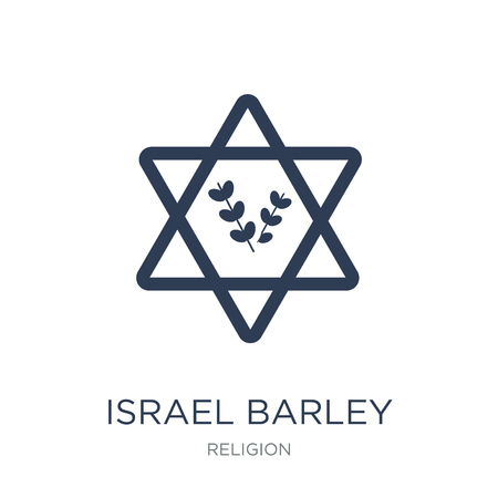 Israel Barley icon. Trendy flat vector Israel Barley icon on white background from Religion collection, vector illustration can be use for web and mobile, eps10 Vector Illustration