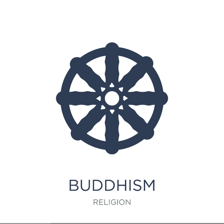 Buddhism icon. Trendy flat vector Buddhism icon on white background from Religion collection, vector illustration can be use for web and mobile, eps10 Illustration