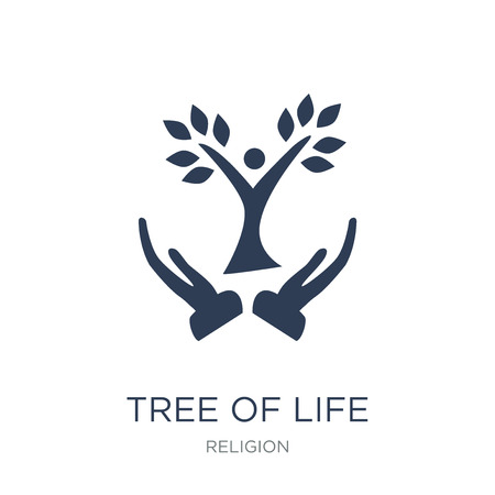 Tree of Life icon. Trendy flat vector Tree of Life icon on white background from Religion collection, vector illustration can be use for web and mobile, eps10