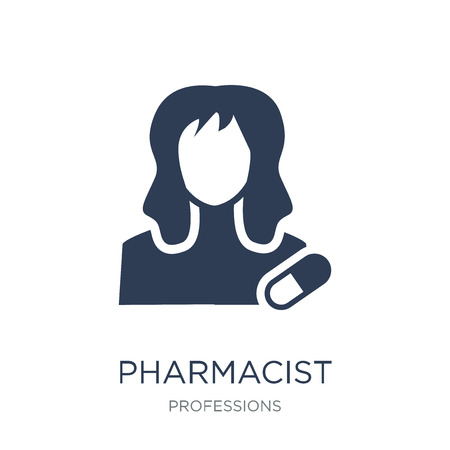 Pharmacist icon. Trendy flat vector Pharmacist icon on white background from Professions collection, vector illustration can be use for web and mobile, eps10