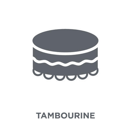Tambourine icon. Tambourine design concept from  collection. Simple element vector illustration on white background.