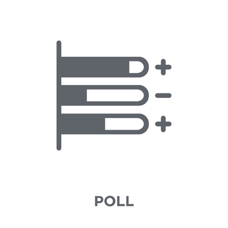 Poll icon. Poll design concept from collection. Simple element vector illustration on white background.