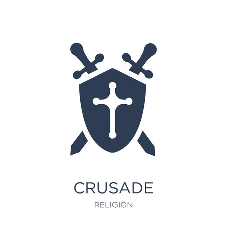 Crusade icon. Trendy flat vector Crusade icon on white background from Religion collection, vector illustration can be use for web and mobile, eps10