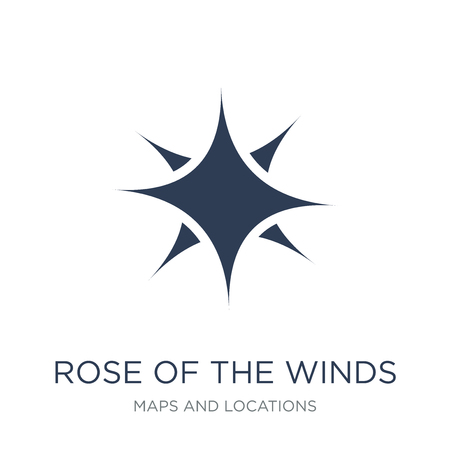 Rose of the Winds icon. Trendy flat vector Rose of the Winds icon on white background from Maps and Locations collection, vector illustration can be use for web and mobile, eps10 Ilustração