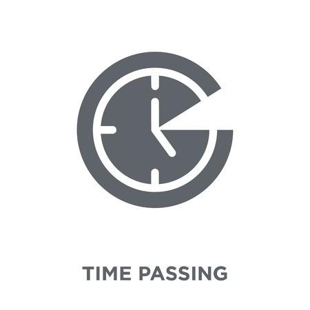 Icono de paso del tiempo. Concepto de diseño de paso del tiempo de la colección Productivity. Ilustración de vector de elemento simple sobre fondo blanco.