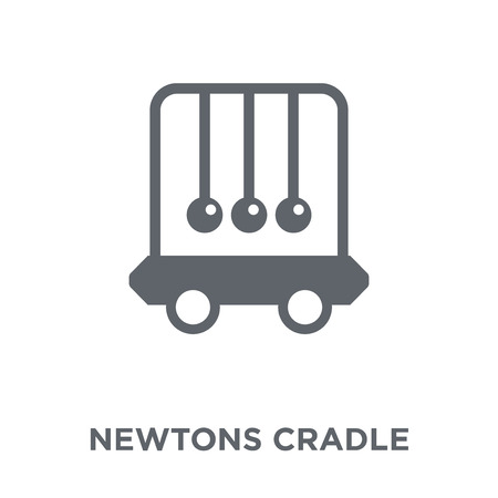 Newtons cradle icon. Newtons cradle design concept from  collection. Simple element vector illustration on white background. Stock Illustratie
