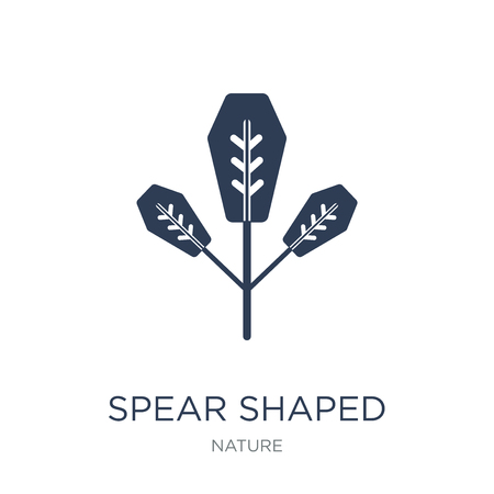 Spear Shaped icon. Trendy flat vector Spear Shaped icon on white background from nature collection, vector illustration can be use for web and mobile, eps10
