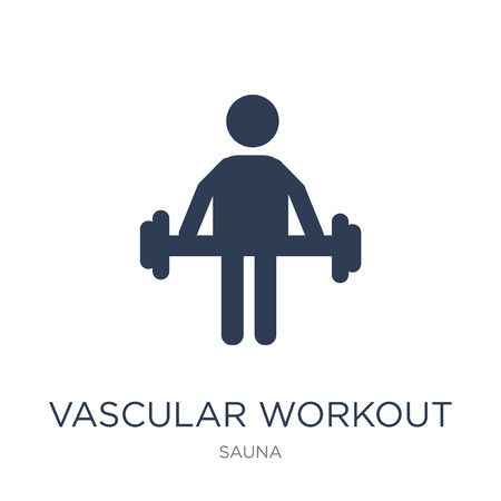Vascular workout icon. Trendy flat vector Vascular workout icon on white background from sauna collection, vector illustration can be use for web and mobile, eps10 Çizim