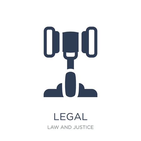 Legal icon. Trendy flat vector Legal icon on white background from law and justice collection, vector illustration can be use for web and mobile, eps10