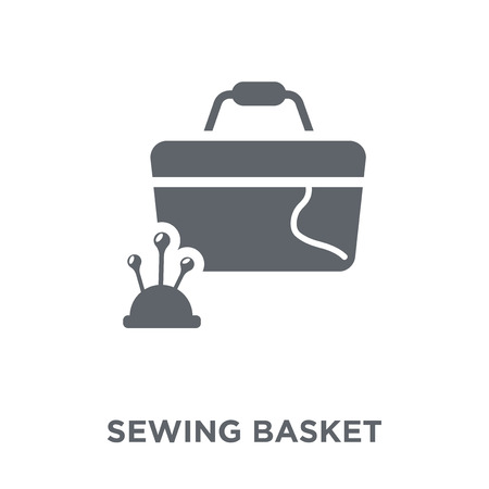 Sewing basket icon. Sewing basket design concept from Sew collection. Simple element vector illustration on white background.