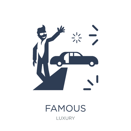 Famous icon. Trendy flat vector Famous icon on white background from Luxury collection, vector illustration can be use for web and mobile, eps10