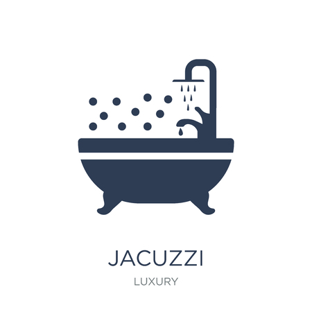 Jacuzzi icon. Trendy flat vector Jacuzzi icon on white background from Luxury collection, vector illustration can be use for web and mobile, eps10 Фото со стока - 112276590