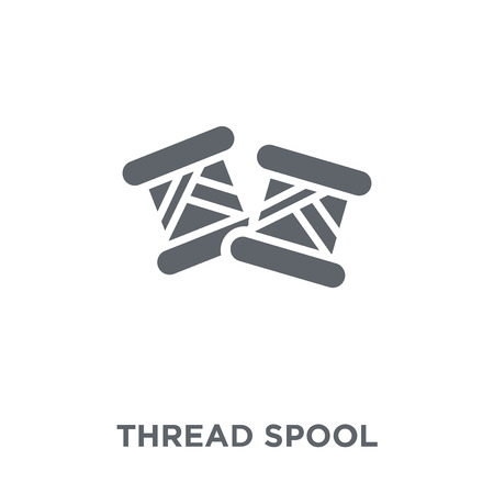 Thread spool icon. Thread spool design concept from Sew collection. Simple element vector illustration on white background. Illustration