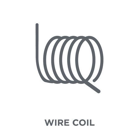 wire coil icon. wire coil design concept from Sew collection. Simple element vector illustration on white background. Illustration